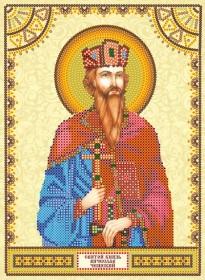 Схема для вышивки бисером на холсте Святой Вячеслав