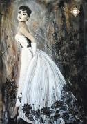 Схема для вышивки бисером на атласе Принцесса голливуда