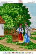 Рисунок на габардине для вышивки бисером Український пейзаж