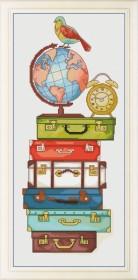 Набор для вышивки крестом Счастливого путешествия!