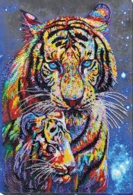 Набор для вышивки бисером Тигры цветные Абрис Арт АВ-833 - 743.00грн.