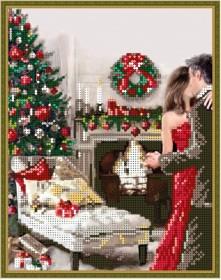 Схема вышивки бисером на габардине Новогодний вечер, , 57.00грн., Б-4324 ИВ, I. B. Studio, Новый год