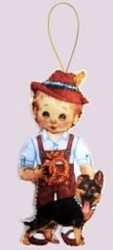 Набор для изготовления куклы из фетра для вышивки бисером Кукла. Германия-М