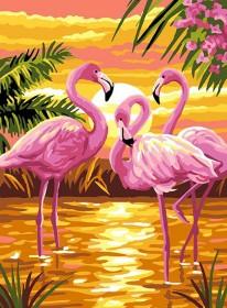 Набор для выкладки алмазной мозаикой Розовые фламинго Алмазная мозаика DM-334 - 430.00грн.