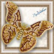 Набор для вышивки бисером на прозрачной основе Бабочка Айлантовый шелкопряд