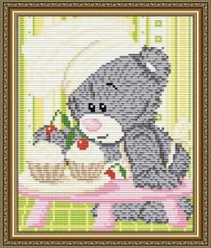 Набор для выкладки алмазной мозаикой Мишка кондитер Art Solo АТ5526 - 248.00грн.