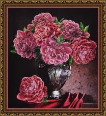 Набор для вышивки бисером Бархатные пионы Картины бисером Р-229