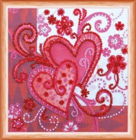 Набор для вышивки бисером Любящие сердца Абрис Арт АМ-158 - 102.00грн.