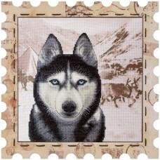 Набор для вышивки нитками Почтовая марка Хаски Новая Слобода (Нова слобода) КО4019-У