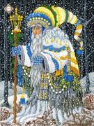 Схема для вышивки бисером на атласе Рождественский чародей