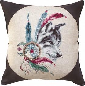 Набор подушки для вышивки крестом Волк Luca-S РВ143 - 346.00грн.