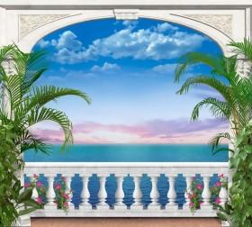 Набор для выкладки алмазной мозаикой Вид на закат Алмазная мозаика DM-082 - 715.00грн.