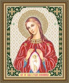 Схема вышивки бисером на авторской канве В родах Помошница Образ Пресвятой Богородицы Art Solo VIA4265 - 45.00грн.