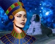 Схема для вышивки бисером на атласе Царица Египта