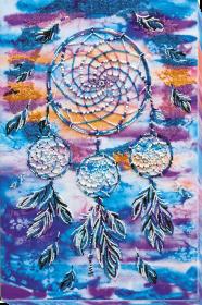 Набор для вышивки бисером на холсте Амулет ловец снов, , 616.00грн., АВ-584, Абрис Арт, Сказочные персонажи