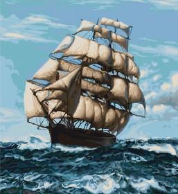 Набор для вышивки крестом Корабль Luca-S В438 - 975.00грн.