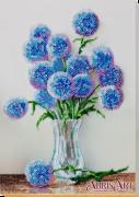Набор для вышивки бисером на холсте Голубые шарики
