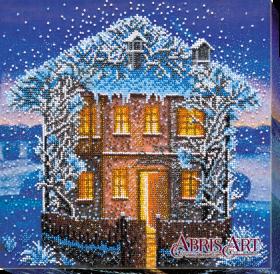 Набор для вышивки бисером на холсте Зимняя ночь