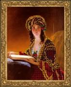Набор для вышивки ювелирным бисером Девушка с книгой