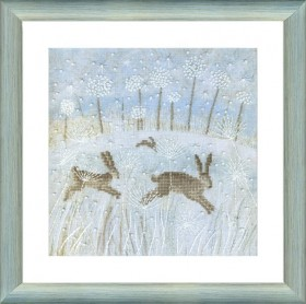Набор для вышивки крестом Зимние зайцы