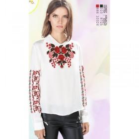 Заготовка женской сорочки на белом габардине Biser-Art SZ75 - 320.00грн.