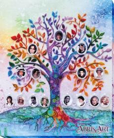Набор для вышивки бисером на холсте Семейное дерево