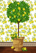 Схема для вышивки бисером на атласе Дерево процветания