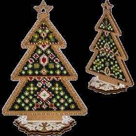 Набор для вышивки  бисером по дереву Елочка Волшебная страна FLK-301 - 420.00грн.