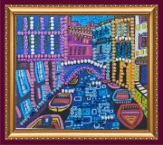 Набор - магнит для вышивки бисером Венеция