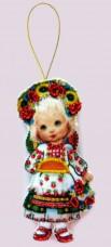 Набор для изготовления куклы из фетра для вышивки бисером Кукла. Украина Баттерфляй (Butterfly) F045