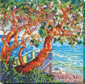 Набор-миди для вышивки бисером на натуральном художественном холсте Над морем Абрис Арт AMB-041 - 219.00грн.