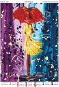Схема вышивки бисером на атласе Под дождем