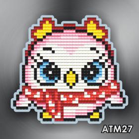 Магнит для выкладки алмазной мозайкой Пингвиненок розовый Art Solo АТМ27 - 96.00грн.