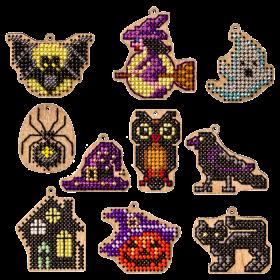 Набор заготовок для вышивки бисером по дереву Хеллоуин Волшебная страна FLSW-010 - 200.00грн.