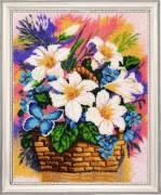 Набор для вышивки бисером Корзинка с лилиями