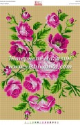 Схема для вышивки бисером на габардине Квітучі троянди