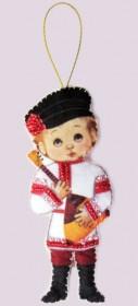 Набор для изготовления куклы из фетра для вышивки бисером Кукла. Россия-М