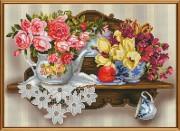 Набор для вышивки в смешанной технике Цветочный романс