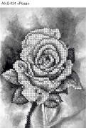 Схема для вышивки бисером на габардине Роза