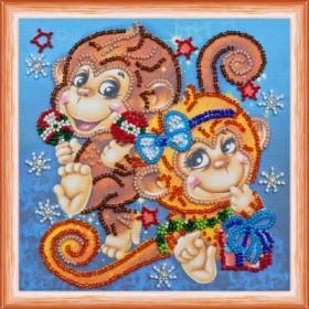 Набор для вышивки бисером Весёлые обезьянки Абрис Арт АМ-114 - 102.00грн.