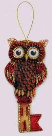 Набор для изготовления игрушки из фетра для вышивки бисером Сова-ключ Баттерфляй (Butterfly) F136 - 54.00грн.