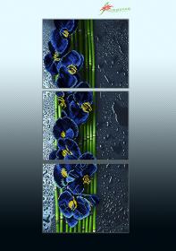 Схема для вышивки бисером на атласе Голубой каскад (триптих), , 225.00грн., АР3-015, А-строчка, Картины из нескольких частей