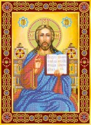 Схема для вышивки бисером на холсте Венчальная пара. Иисус