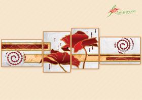 Схема для вышивки бисером на атласе Маковая соната (Полиптих), , 433.00грн., АР2-007, А-строчка, Картины из нескольких частей