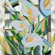 Схема для вышивки бисером на холсте Преломление