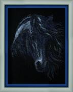 Набор для вышивки бисером Черный конь