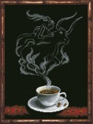 Набор для вышивки крестом Кофейная фантазия. Телец 1
