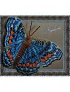 Набор для вышивки бисером на прозрачной основе Бабочка Прецис Октавия