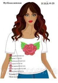 Женская футболка для вышивки бисером Роза