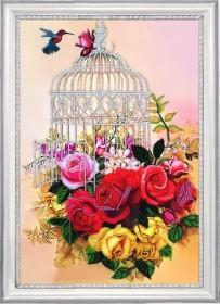 Набор для вышивки бисером Клетка в розах Баттерфляй (Butterfly) 136Б - 270.00грн.